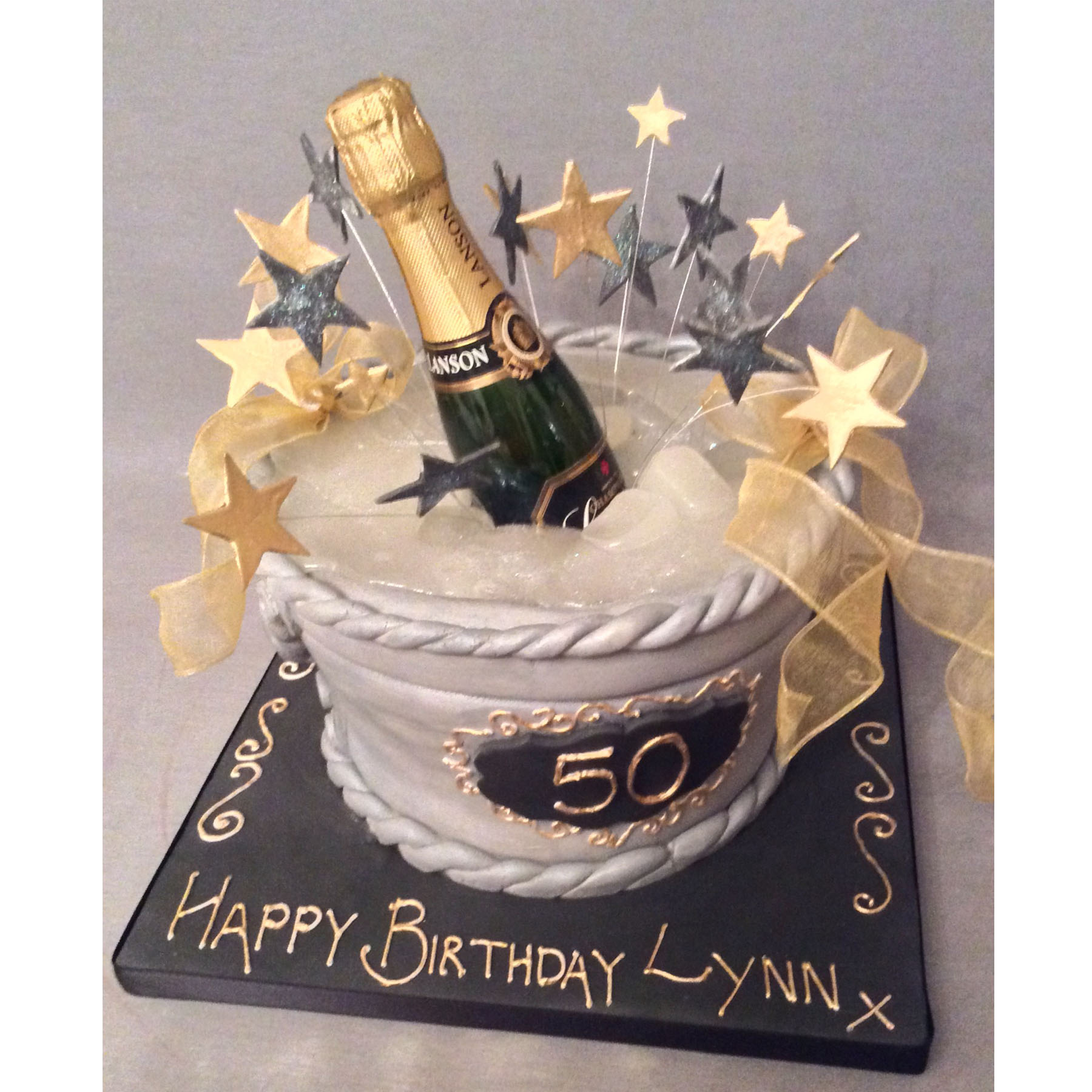 Champagne Cake Decorations
